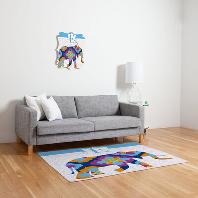 DENY Designs Jennifer Hill Elephant 3 Kids Rug