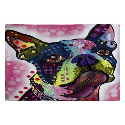 DENY Designs Dean Russo Boston Terrier Novelty Rug