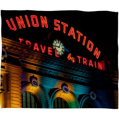 DENY Designs Bird Wanna Whistle Union Station Polyester Fleece Throw Blanket