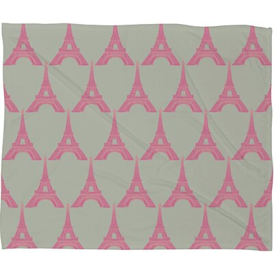 DENY Designs Bianca Green Oui Oui Polyester Fleece Throw Blanket