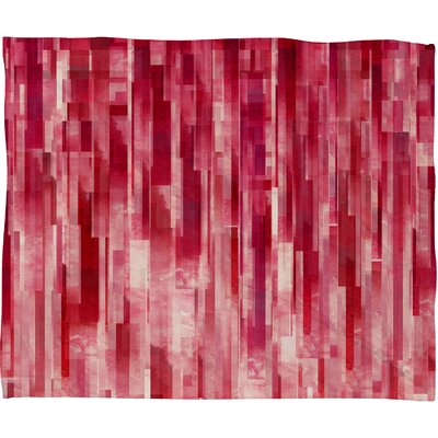 Jacqueline Maldonado Red Rain Polyester Fleece Throw Blanket