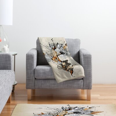 DENY Designs Iveta Abolina Floral 1 Polyester Fleece Throw Blanket