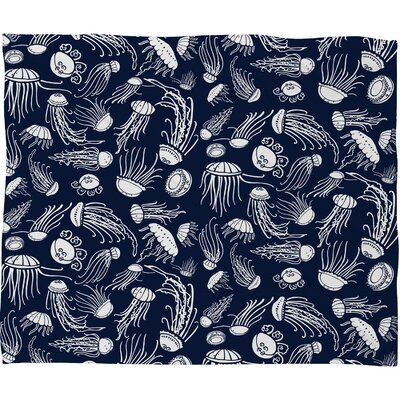 DENY Designs Jennifer Denty Jellyfish Polyester Fleece Throw Blanket