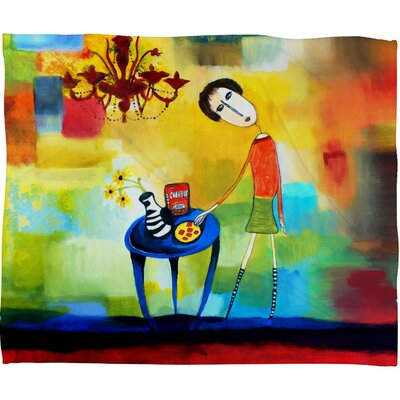 DENY Designs Robin Faye Gates Cheeze It Thank You Polyester Fleece Throw Blanket