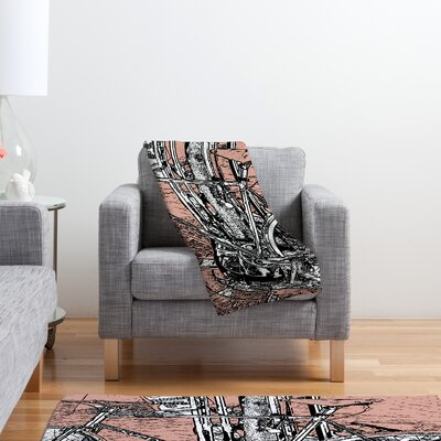 DENY Designs Romi Vega Bike Polyester Fleece Throw Blanket