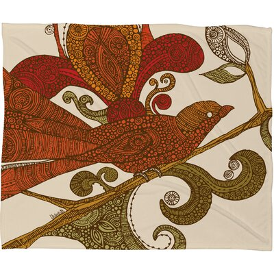Valentina Ramos The Orange Bird Polyester Fleece Throw Blanket