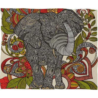 DENY Designs Valentina Ramos Bo The Elephant Polyester Fleece Throw Blanket