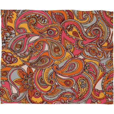 DENY Designs Valentina Ramos Spring Paisley Polyester Fleece Throw Blanket