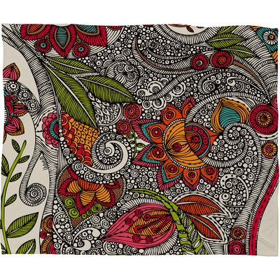 DENY Designs Valentina Ramos Random Flowers Polyester Fleece Throw Blanket