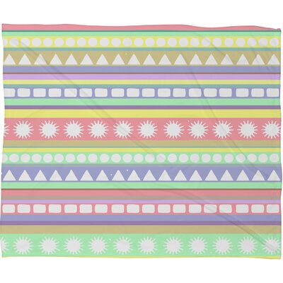 DENY Designs Romi Vega Pastel Pattern Polyester Fleece Throw Blanket