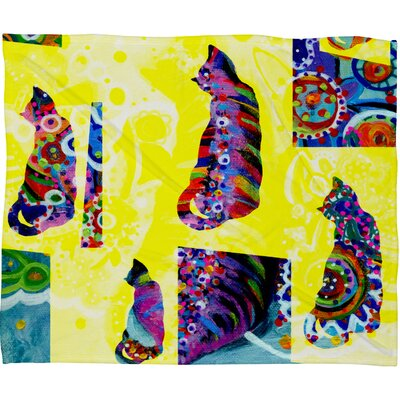 DENY Designs Randi Antonsen Cats 1 Polyester Fleece Throw Blanket