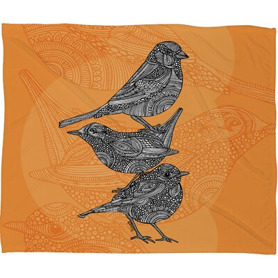 DENY Designs Valentina Ramos 3 Little Birds Polyester Fleece Throw Blanket