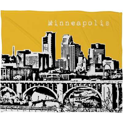 DENY Designs Bird Ave Minneapolis Polyester Fleece Throw Blanket