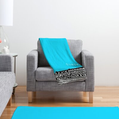 DENY Designs Bird Ave Chapel Hill Polyester Fleece Throw Blanket
