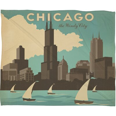 Anderson Design Group Chicago Polyester Fleece Throw Blanket
