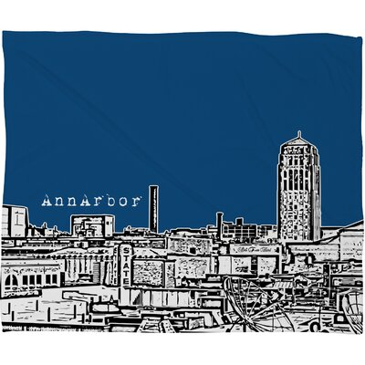 DENY Designs Bird Ave Ann Arbor Polyester Fleece Throw Blanket
