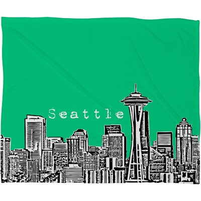 DENY Designs Bird Ave Seattle Polyester Fleece Throw Blanket