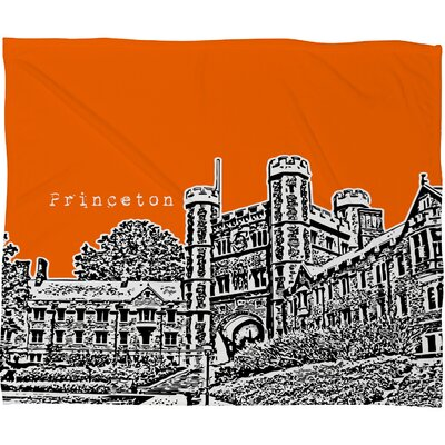 DENY Designs Bird Ave Princeton University Polyester Fleece Throw Blanket