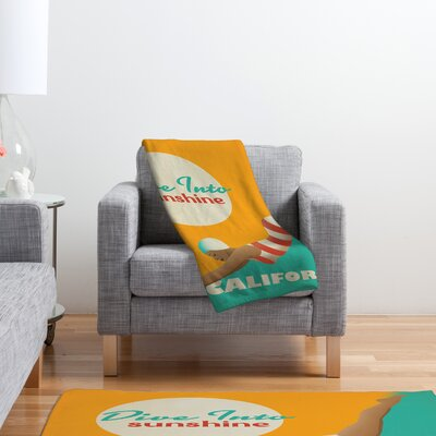 DENY Designs Anderson Design Group Dive California Polyester Fleece Throw Blanket