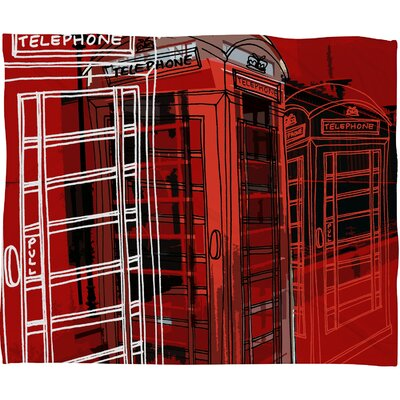 DENY Designs Aimee St Hill Phone Box Polyester Fleece Throw Blanket