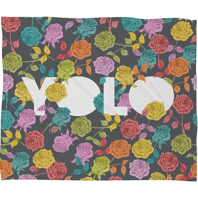 DENY Designs Bianca Green Yolo Polyester Fleece Throw Blanket
