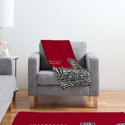 DENY Designs Bird Ave University of Denver Polyester Fleece Throw Blanket