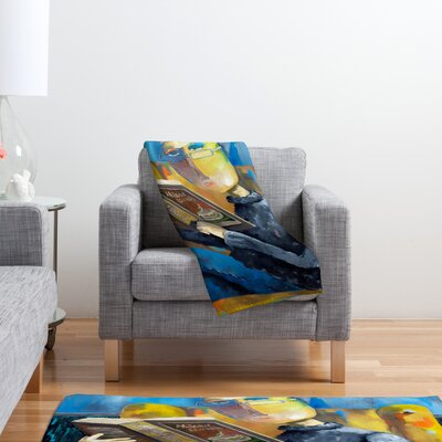 DENY Designs Robin Faye Gates at The End of The Fork Polyester Fleece Throw Blanket