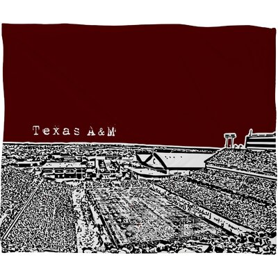 DENY Designs Bird Ave Texas A and M Maroon Polyester Fleece Throw Blanket
