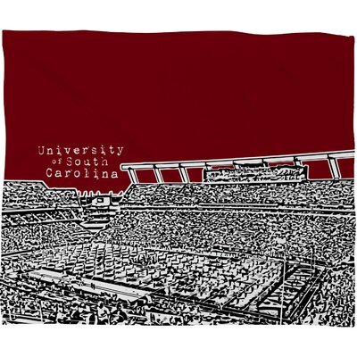 DENY Designs Bird Ave University of South Carolina Dark Polyester Fleece Throw Blanket