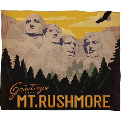 DENY Designs Anderson Design Group Nount Rushmore Polyester Fleece  Throw Blanket