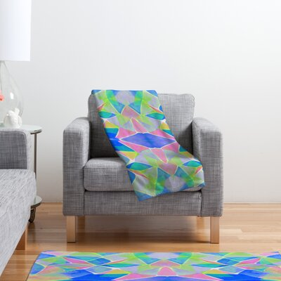 DENY Designs Amy Sia Chroma Blue Polyester Fleece Throw Blanket
