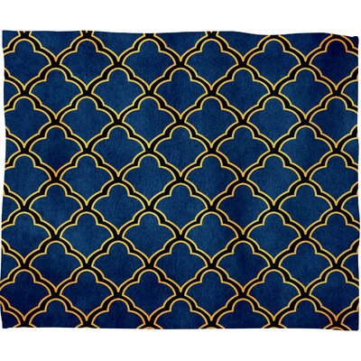 DENY Designs Arcturus Quatrefoil Polyester Fleece Throw Blanket