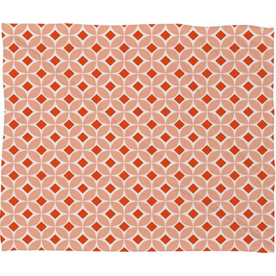 DENY Designs Caroline Okun Persimmon Polyester Fleece Throw Blanket