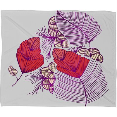 DENY Designs Gabi Sea Leaves Polyester Fleece Throw Blanket