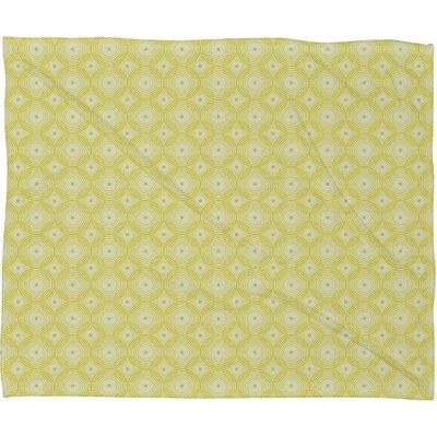 DENY Designs Caroline Okun Yellow Spirals Polyester Fleece Throw Blanket