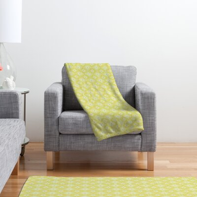 DENY Designs Caroline Okun Yellow Spirals Polyester Fleece Throw Blanket
