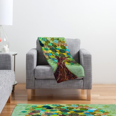 DENY Designs Elizabeth St Hilaire Nelson Spring Tree Polyester Fleece Throw Blanket