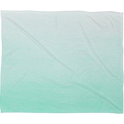 DENY Designs Social Proper Mint Ombre Polyester Fleece Throw Blanket