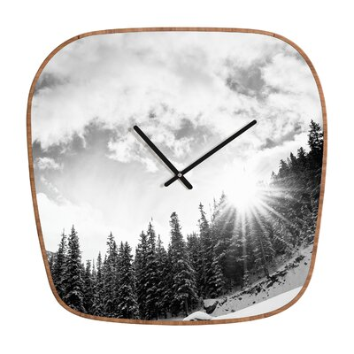 DENY Designs Bird Wanna Whistle White Mountain Clock