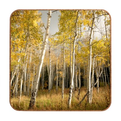 DENY Designs Bird Wanna Whistle Golden Aspen Wall Art