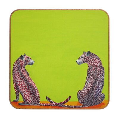DENY Designs Leopard Lovers by Clara Nilles Framed Graphic Art Plaque