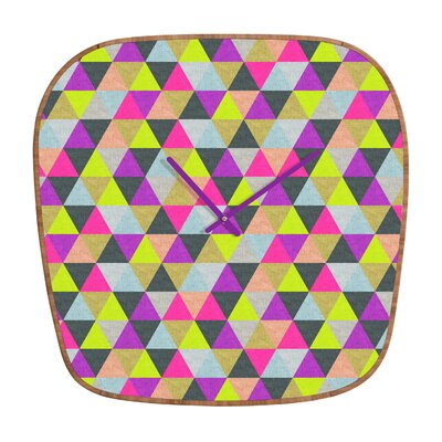 DENY Designs Bianca Green Ocean of Pyramid Wall Clock