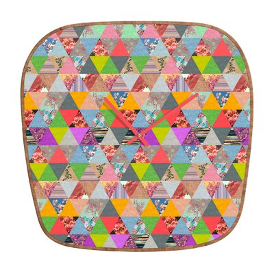 DENY Designs Bianca Green Lost Pyramid Wall Clock