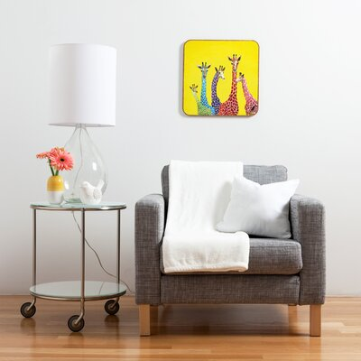 DENY Designs Jellybean Giraffes by Clara Nilles Framed Graphic Art Plaque