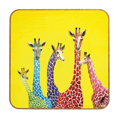 DENY Designs Jellybean Giraffes by Clara Nilles Framed Graphic Art Plaque