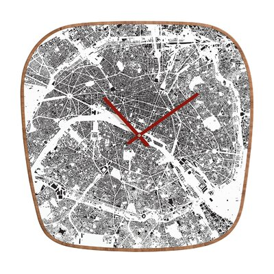 DENY Designs CityFabric Inc. Paris Wall Clock