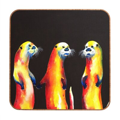 DENY Designs Flaming Otters by Clara Nilles Framed Graphic Art Plaque