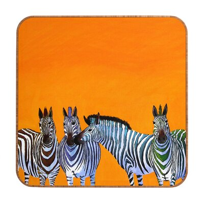 DENY Designs Candy Stripe Zebras by Clara Nilles Framed Graphic Art Plaque