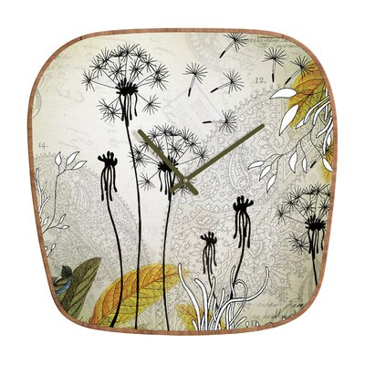 DENY Designs Iveta Abolina Little Dandelion Wall Clock