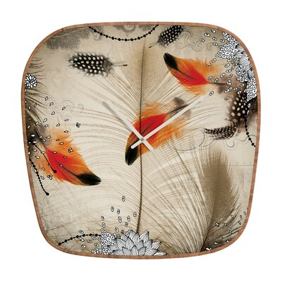 DENY Designs Iveta Abolina Feather Dance Wall Clock